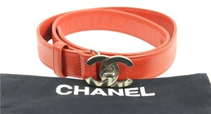 Chanel Chanel Red Caviar Belt Size (US Size 32) CCTLM28
