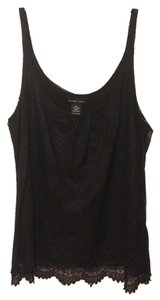 New York & Company Lace Night Out Top Black