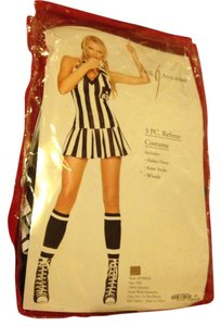 Leg Avenue Halloween Costume 3pc Referee Black & White