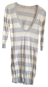 Banana Republic short dress White & Grey Stripe on Tradesy