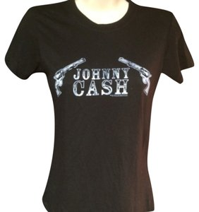 Urban Outfitters Johnny Cash Graphic Tee T Shirt Blac