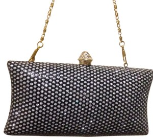 BENINI Black and gold/silver Clutch