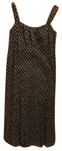 Navy blue and blue and brown print Maxi Dress by Ann Taylor LOFT