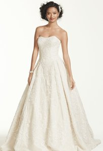 Oleg Cassini Oleg Cassini Lace Tulle Dress Cwg635 Wedding Dress