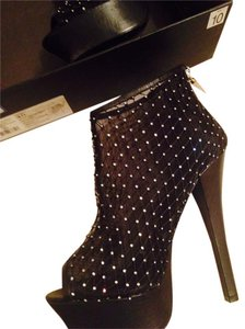 Rock & Republic Black Crystal and Mesh Platforms