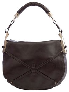 Salvatore Ferragamo Leather Woven Hobo Bag