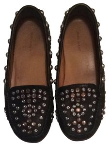 Isabel Marant Loafers Studded Loafers Fall Leather Gem Gem Loafers Black Flats