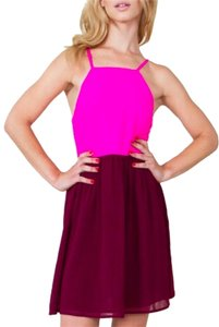 Sugarlips Color Block Cut Out Back Dress
