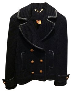 Tory Burch Sweater Sweater Military Navy Jacket