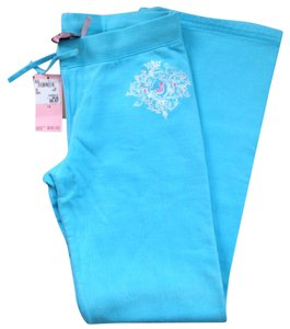 Juicy Couture Sweat Kids Kids Size Rhinestones Athletic Pants Blue, light blue