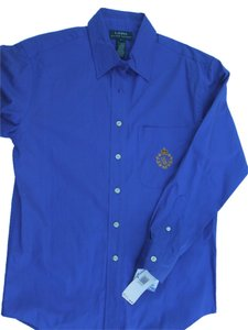 Lauren Ralph Lauren Button Down Shirt Bright Blue