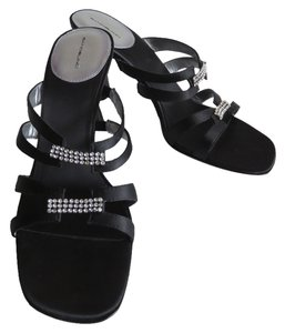 Bandolino Strappy Rhinestone Black Sandals