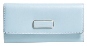 Marc by Marc Jacobs Marc By Marc Jacobs Light Blue Leather Too Hot to Handle Tri Fold Large Wallet New
