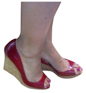 Aldo Shoes Red Wedges