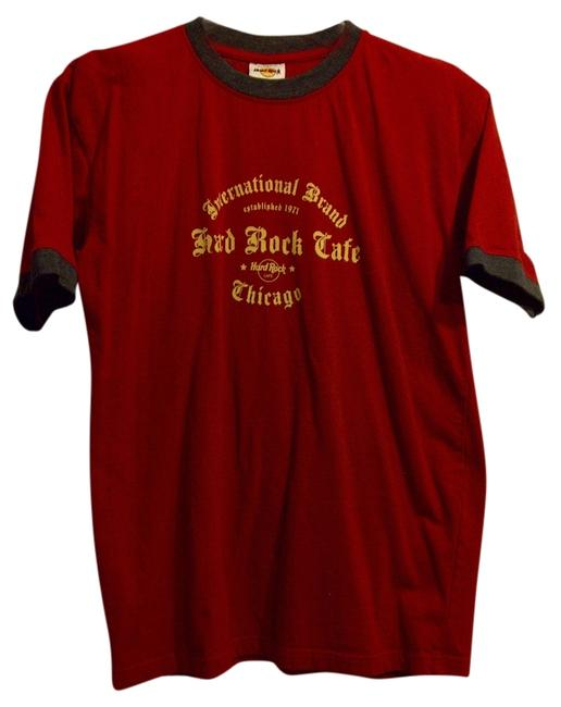 Hard Rock T Shirt red