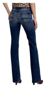 7 For All Mankind High Waisted Medium Wash Boot Cut Jeans-Medium Wash