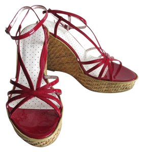 Guess By Marciano Wedge Red Sandals
