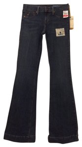 Fade to Blue Stretchy Flare Leg Jeans-Medium Wash