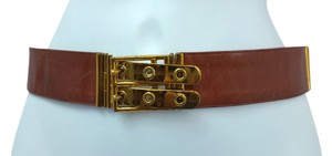 Judith Leiber JUDITH LEIBER ADJUSTABLE LEATHER BELT ***UP TO 35 INCHES