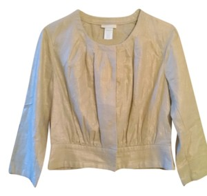 Worthington New Cardigan Blouse Button Down Shirt Gold