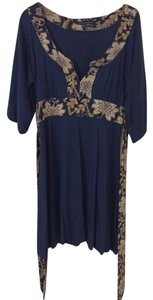 Banana Republic short dress Blue, Gold on Tradesy