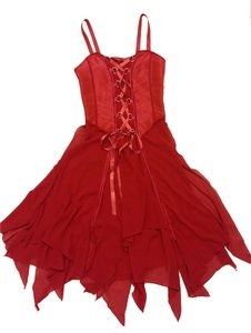 Other Flowy Red Party Wedding Dress