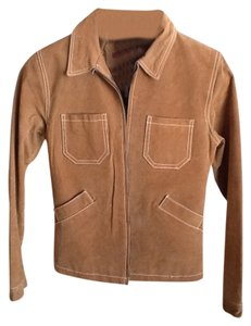 Jennyfer J Camel Leather Jacket