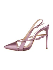 Casadei Lucite Stiletto Pvc Leather Made In Italy pink Pumps