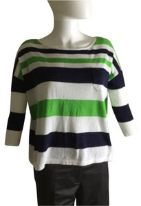 Lilly Pulitzer Top Navy green & white