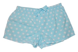 Faded Glory Polka Dot Blue Stretchy Adjustable Shorts Blue White