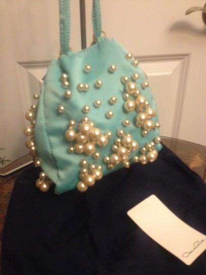Oscar de la Renta Satchel in Tiffany Blue