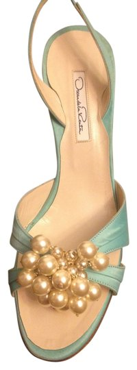 Oscar de la Renta Tiffany Blue Sandals