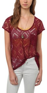 2aca7317ec Kimchi Blue Lace T-shirt Cut-out Pocket Sheer Urban Outfitters Hippie  Camisole Scalloped