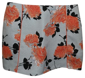 MINKPINK Mini Skirt Blue and Coral Floral