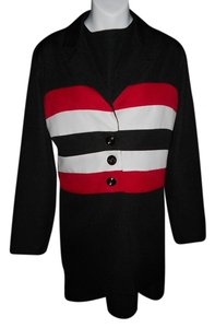 B. Smart BE SMART BLACK SLEEVELESS DRESS AND BLACK W/RED & WHITE JACKET (M)