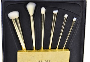 Sephora Sephora 24K Gold Infused Holiday 2014 Brush Set + Stand