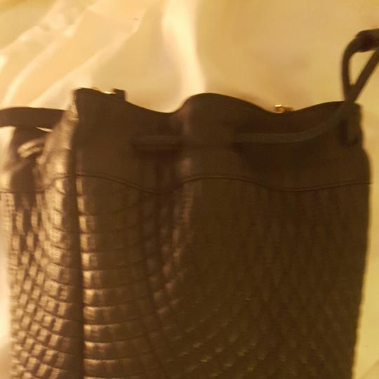 Bally Quilted Leather Gold Chain Quilted Leather Vintage Shoulder Bag