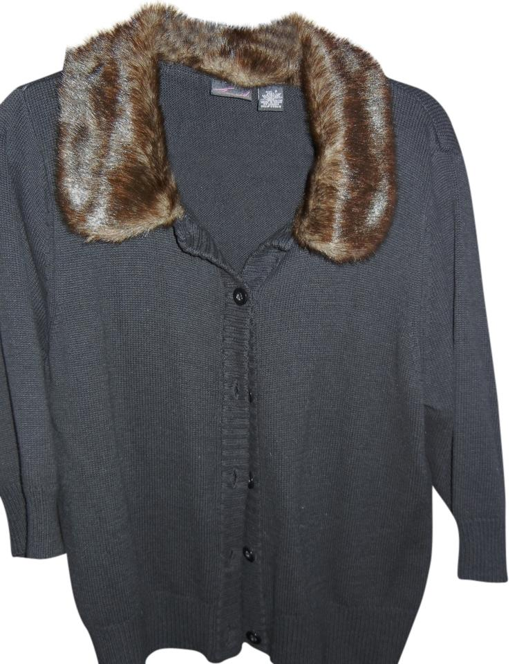 9154d2c9939 Torrid Black Faux Fur Sweater Jacket Cardigan Size 20 (Plus 1x ...