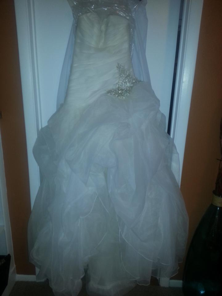 Galina Ivory High Low Modern Wedding Dress Size 6 (S) - Tradesy