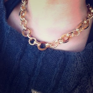 Elliot Francis Heavy Gold Necklace