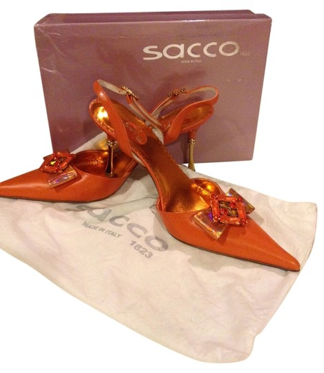 Sacco 1823 Italian Orange/Gold Pumps