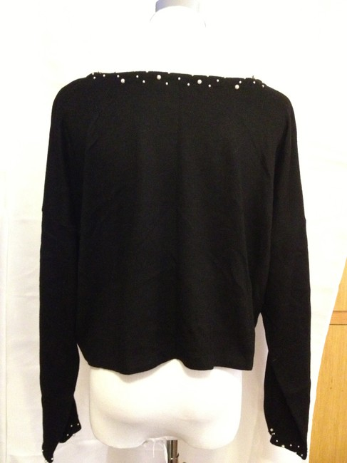 Bryan Emerson High End Boutiqe Sweater Date Night Top Black