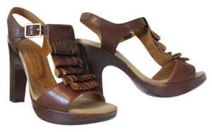 Chie Mihara Flamenco Leather Sandal brown Sandals