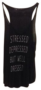 Brandy Melville Stressed Top black
