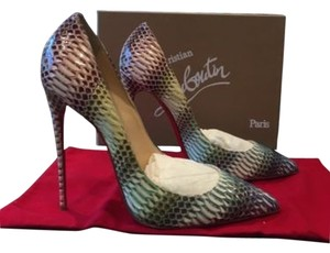Christian Louboutin Louboutin Pigalle Follies 120mm Python Pink Pumps