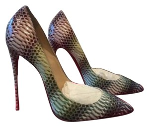 Christian Louboutin Pigalle Follies 120mm Python Pink Pumps