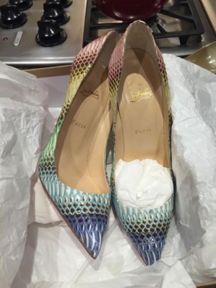 Pumps Pigalle Watersnake Follies Louboutin Pink Python Christian 120mm TwpCqH0