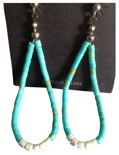 Preload https://item3.tradesy.com/images/vintage-handcrafted-heishi-turquoise-earrings-759212-0-0.jpg?width=440&height=440