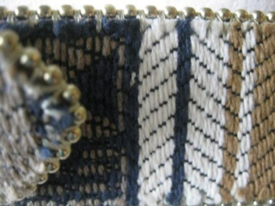 Absolutely Fresh Absolutely Fresh Woman Belt Size M/L Beaded Tapestry Design Gold Tone Buckle