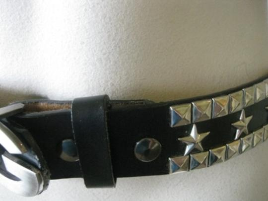 Dolce&Gabbana Dolce&Gabanna Rock Glam Belt Black Leather Studded W/Pyramid/Stars